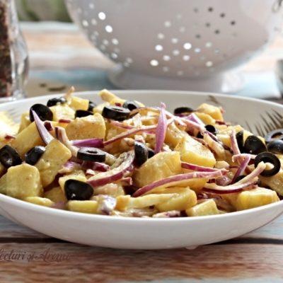 Salată orientală de post cu muștar