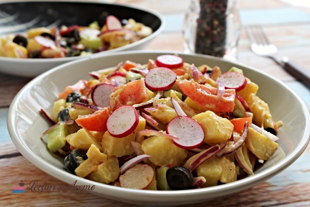 salată de cartofi de post