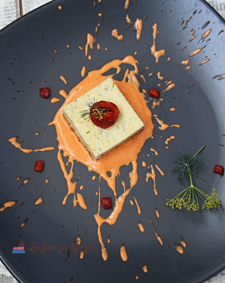 alivancă cu ricotta și sos de ardei