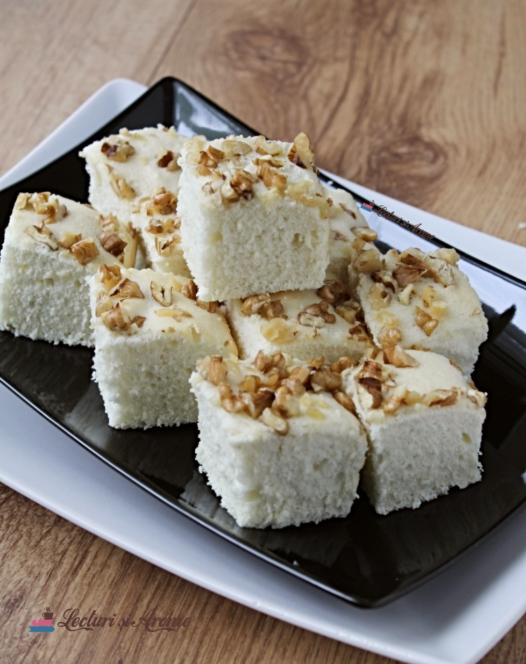 prăjitură cu albușuri fără praf de copt