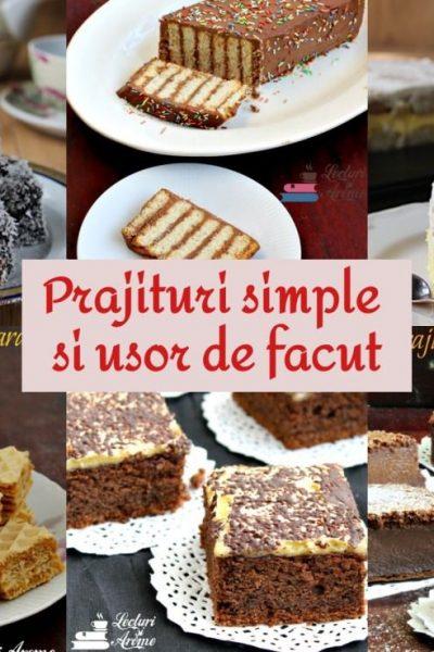 prăjituri simple pentru începători