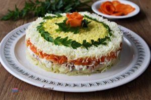 salată mimoza cu ton