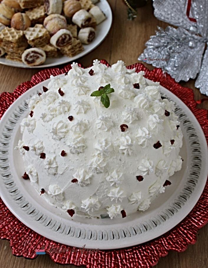 tort bulgăre de zăpadă fără coacere