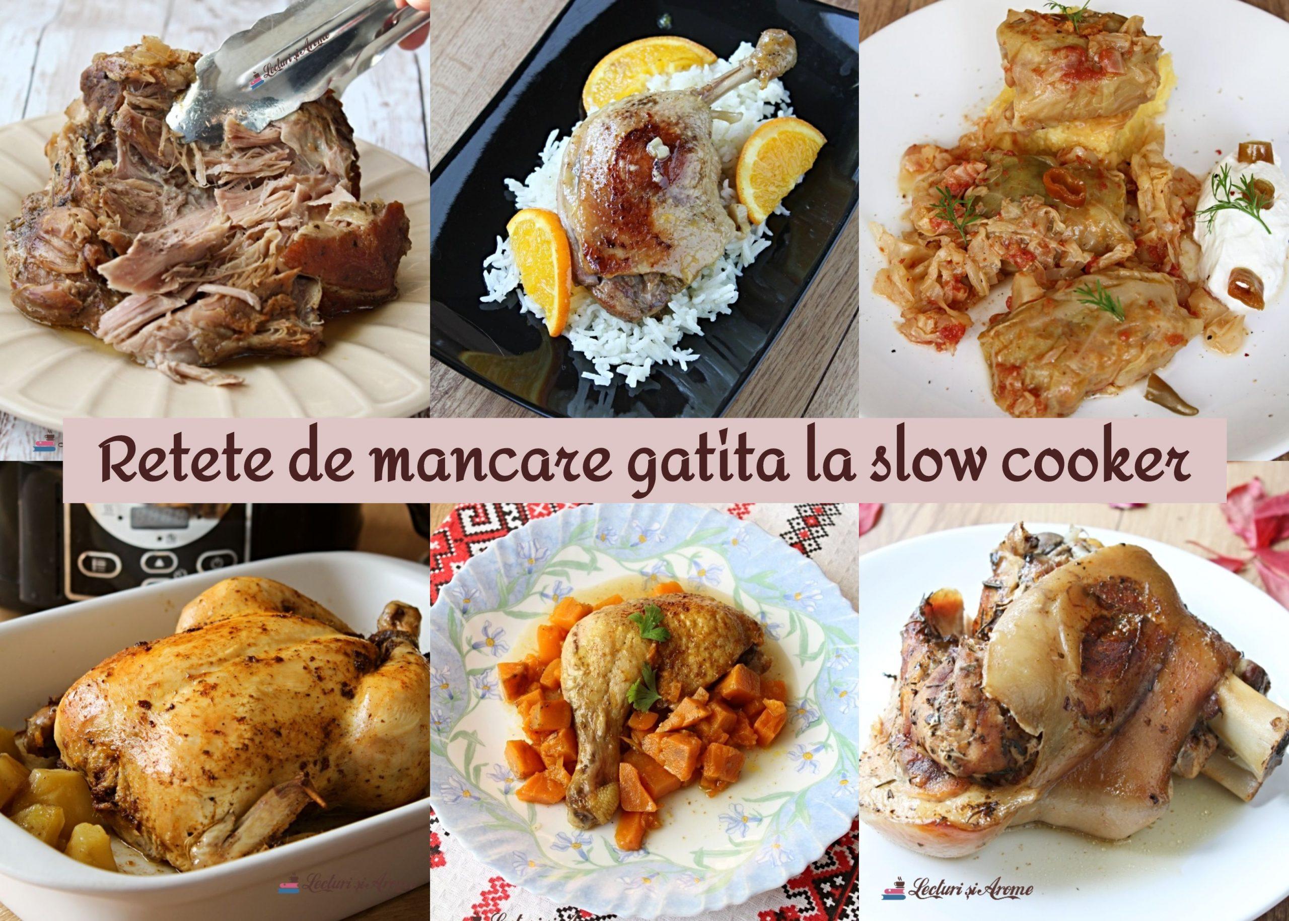 rețete de mâncare la slow cooker