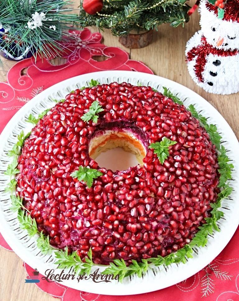 salată brățară de rodie salată ruseasca în straturi