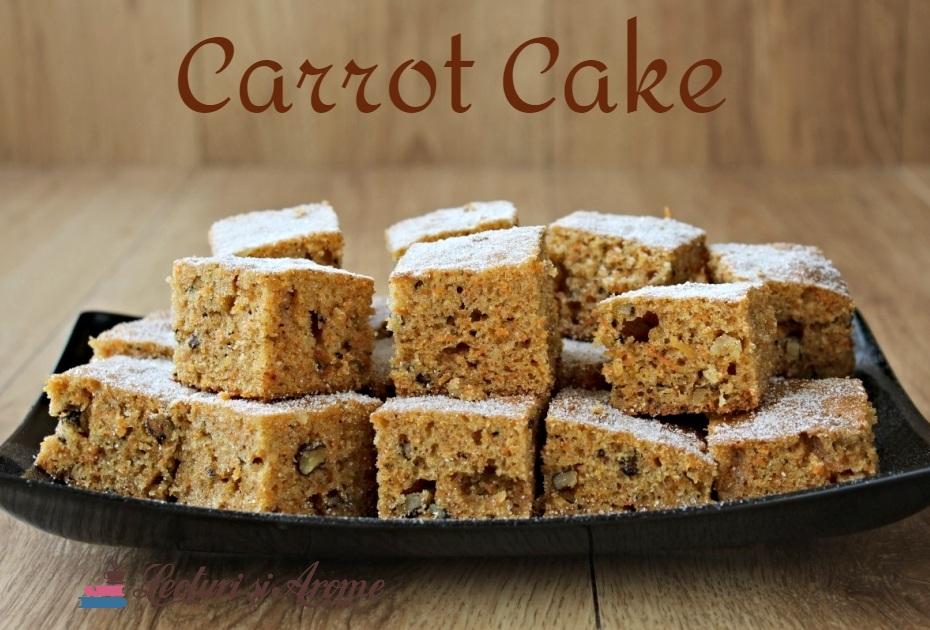 prăjitură cu morcov și nuci