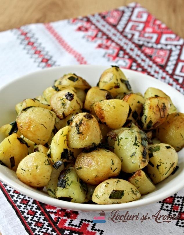 cartofi noi la tigaie sau ceaun