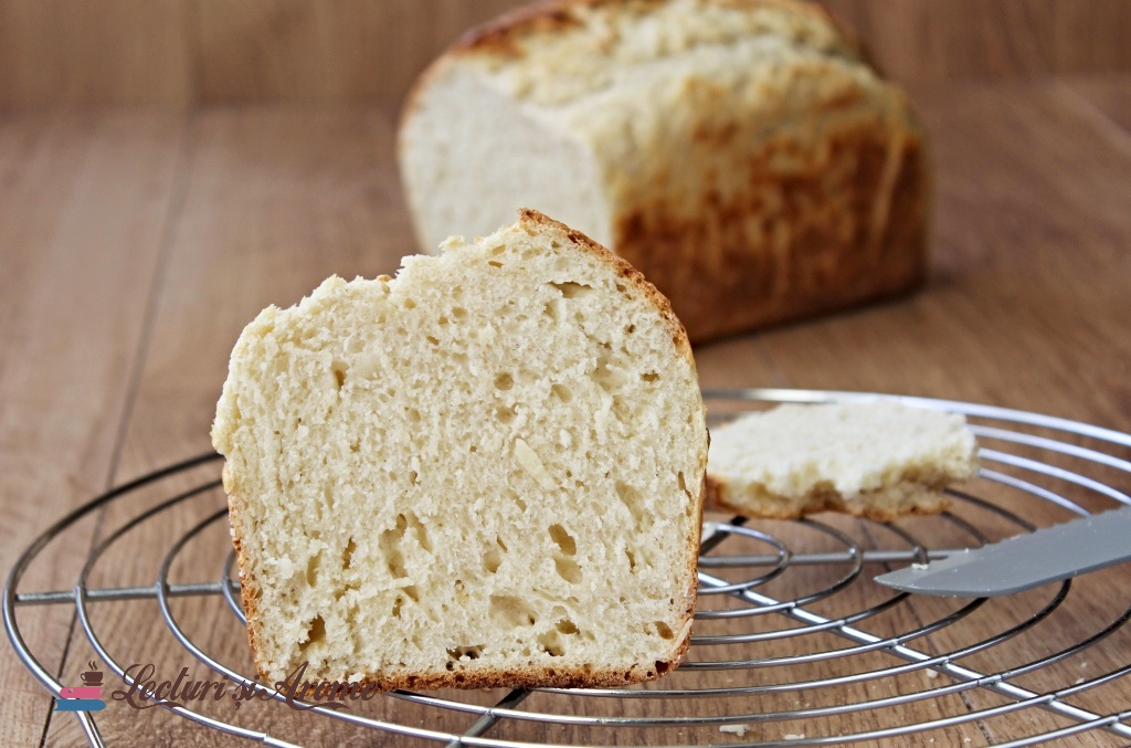 pâine de casă rapidă cu praf de copt