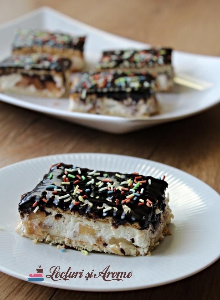 prăjitură FĂRĂ coacere cu biscuiți și mascarpone