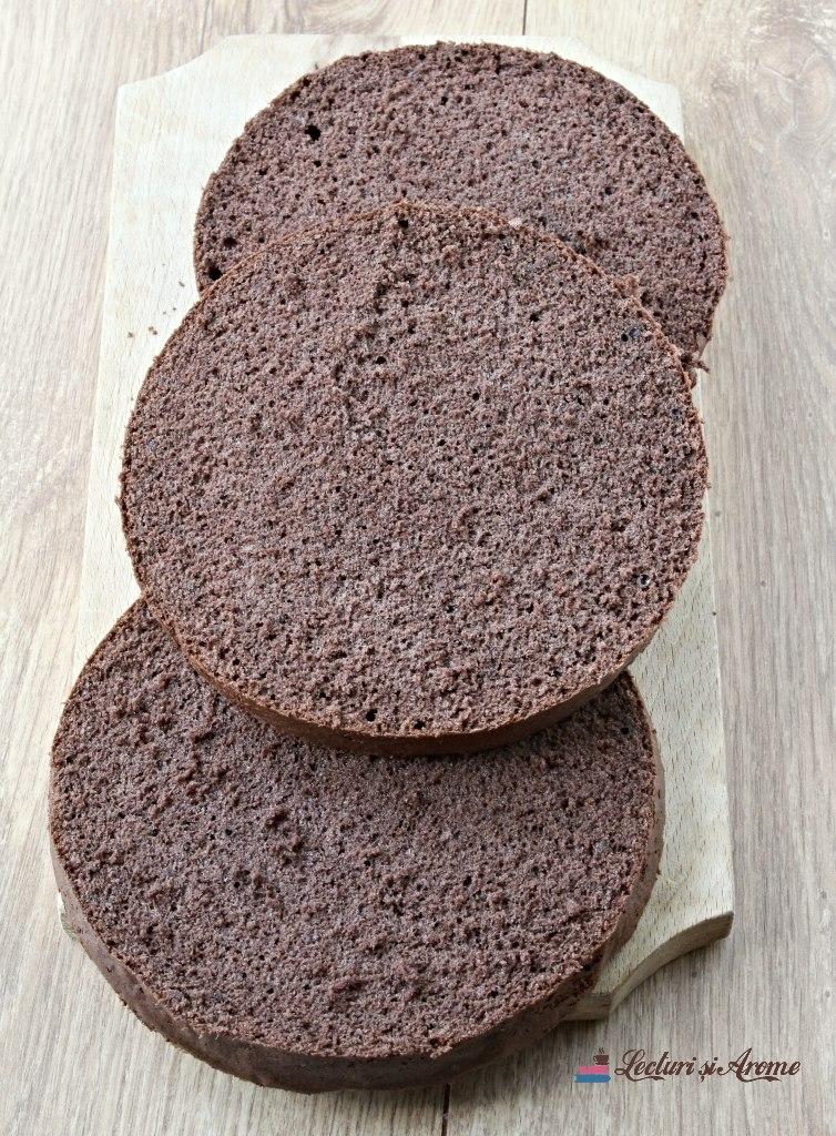 blat de tort cu cacao și ouă întregi
