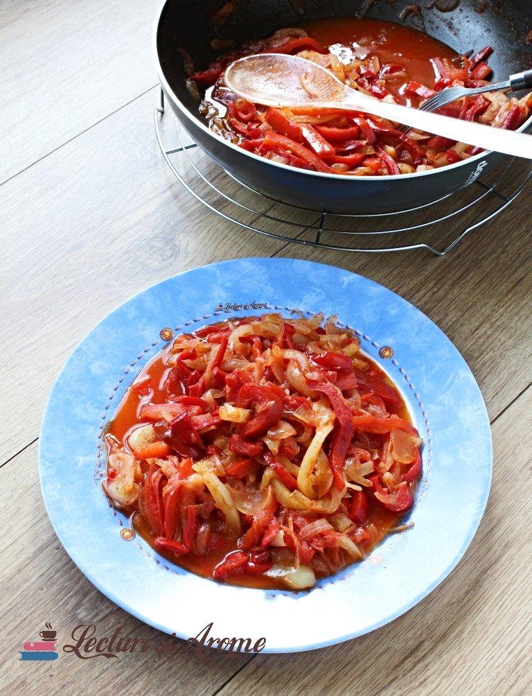 mâncărică de ardei și ceapă peperonata siciliană