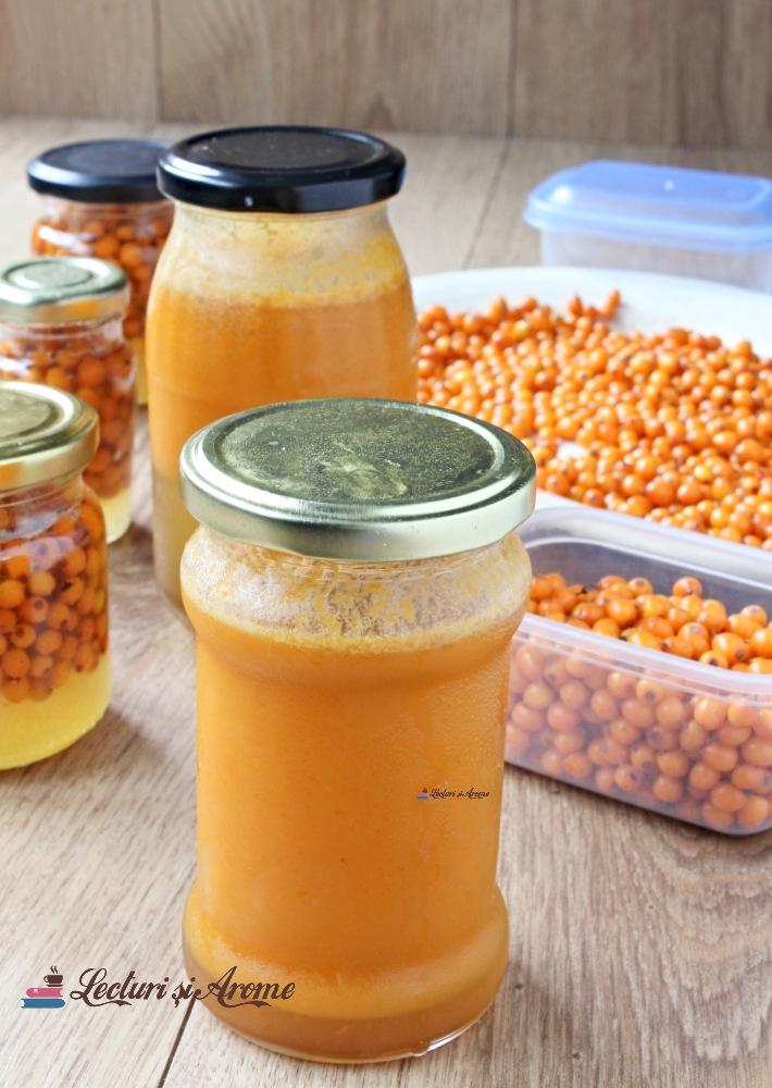 suc de cătină cu miere pentru iarnă