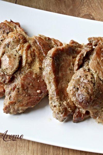 ceafă de porc la cuptor
