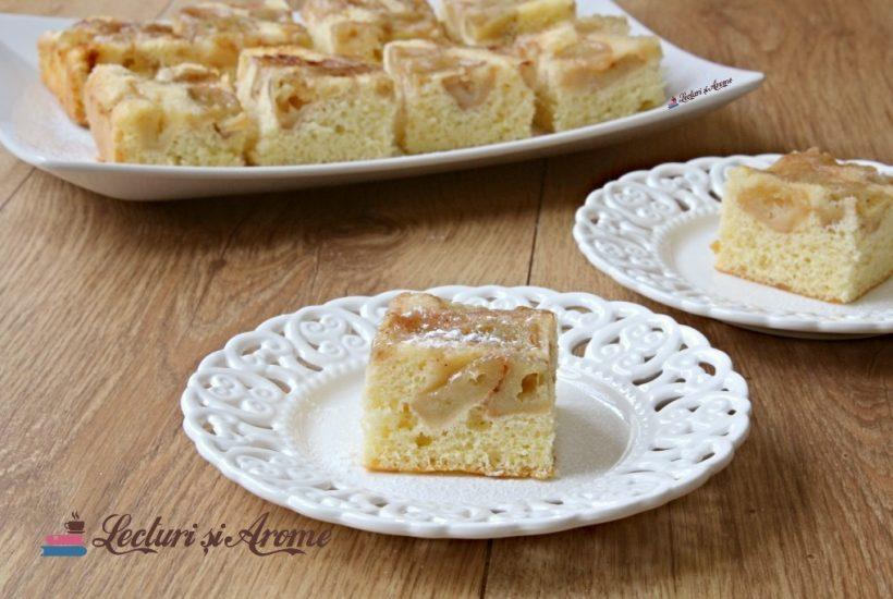prăjitură răsturnată cu mere