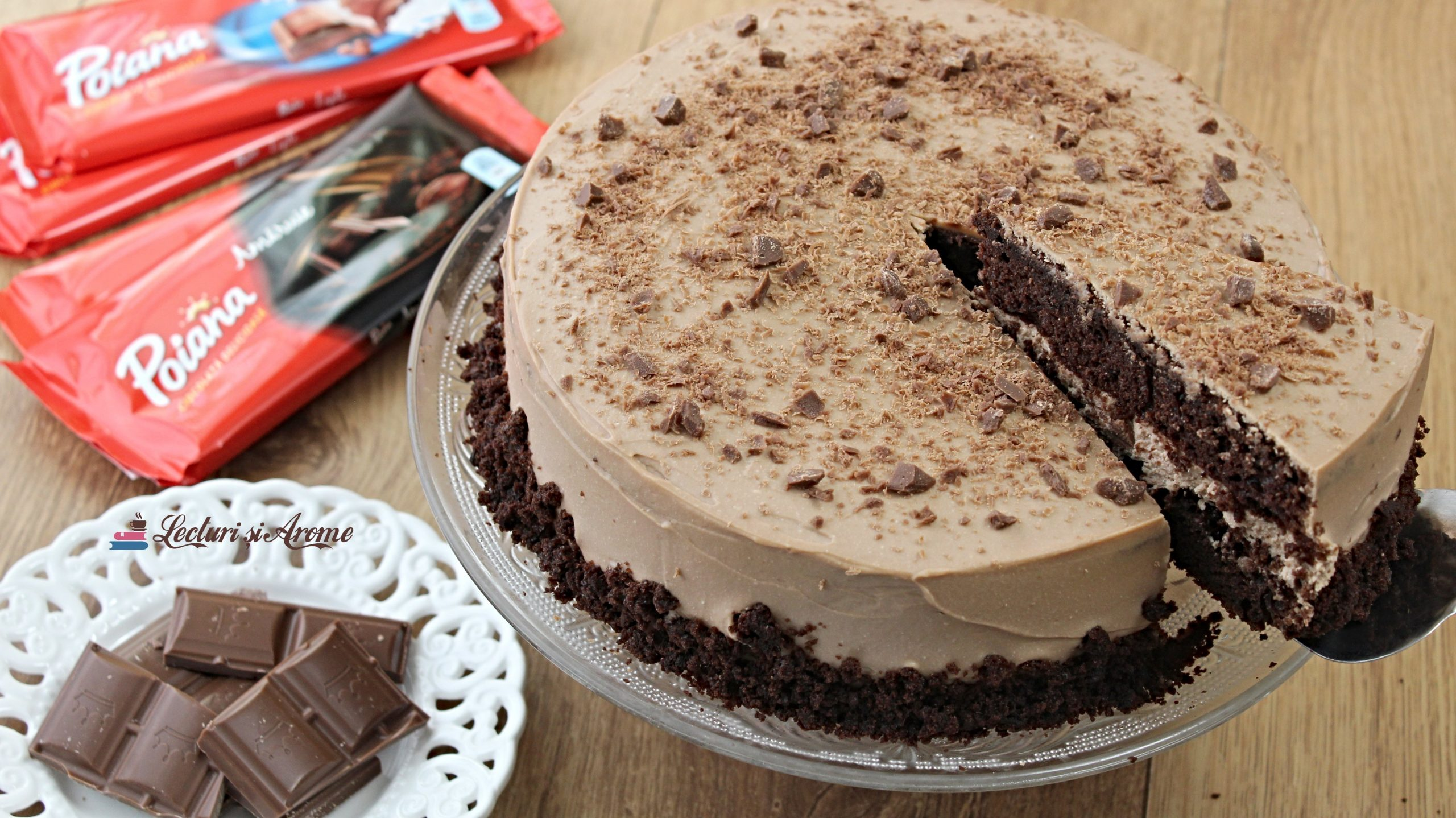 tort poiana cu ciocolată amăruie
