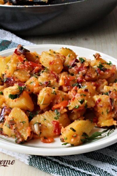 cartofi țărănești cu ardei