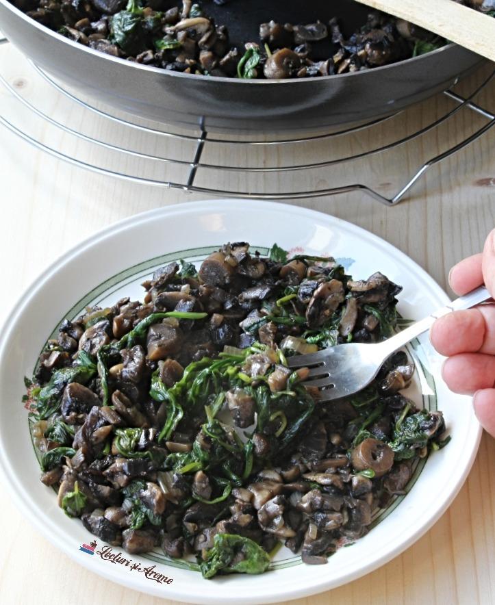 ciuperci cu spanac