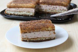 prăjitură mirela cu pișcoturi și mousse de ciocolată