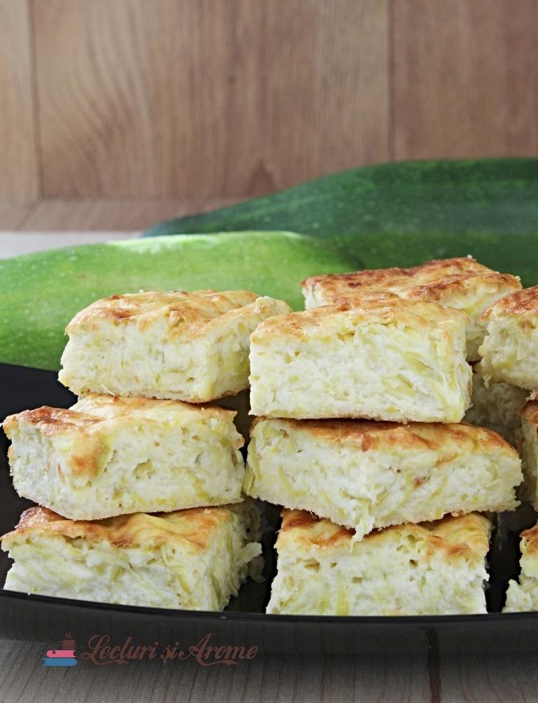 budincă cu dovlecei și brânză plăcintă cu dovlecei