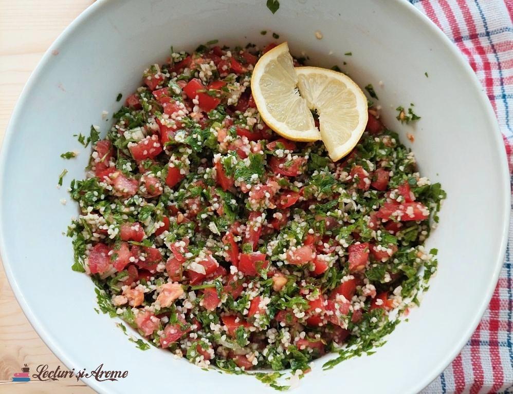 salată tabbouleth cu couscous