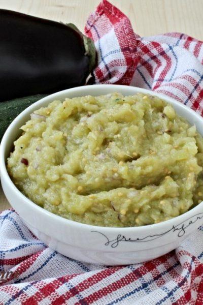 salată de vinete cu dovlecei